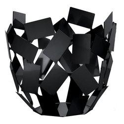 "Alessi - Alessi ""La Stanza Dello Scirocco"" Citrus Basket, Black - This citrus basket is made of steel colored black or white epoxy resin or stainless steel mirror polish."
