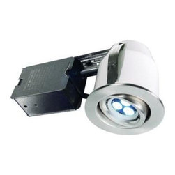 BAZZ - BAZZ 303 Series 3 in. Brushed Chrome LED Recessed Lighting Kit 303LED4B - Shop for Lighting & Fans at The Home Depot. The Bazz 4-in. LED GU10 4W recessed lighting fixture utilizes the latest energy-efficient LED technology to light up any living space. Suitable for retro-fit or new construction, these LED recessed fixtures reflect as non-dimmable and each has the same light output as a 30W halogen bulb. With over 30,000 hours of bulb life, this BAZZ recessed lighting fixtures are the newest and most efficient way to decorate and brighten your home.