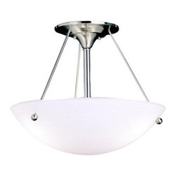 Kichler - Kichler 3752NI Family Spaces 3 Light Semi-Flush Indoor Ceiling Fixture - Product Features: