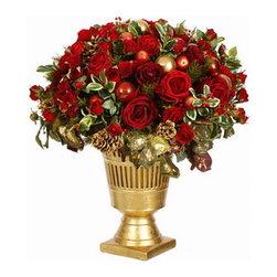 Festive Holiday Urn (Silk Flowers) - Winward Designs
