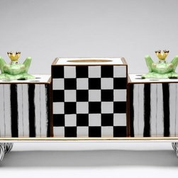 ATD - 18 Inch Green Frog Princess Themed Checkered and Striped Tissue Box - This gorgeous 18 Inch Green Frog Princess Themed Checkered and Striped Tissue Box has the finest details and highest quality you will find anywhere! 18 Inch Green Frog Princess Themed Checkered and Striped Tissue Box is truly remarkable.