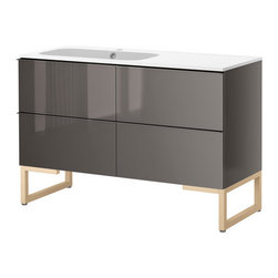 IKEA of Sweden/Eva Lilja Löwenhielm - GODMORGON/NORRVIKEN Sink cabinet with 4 drawers - Sink cabinet with 4 drawers, white, birch