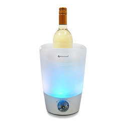 Vinotemp - Epicureanist Quick Chill Ice Bucket - Rapidly cools Wine, Champagne, Vodka, and other beverages!
