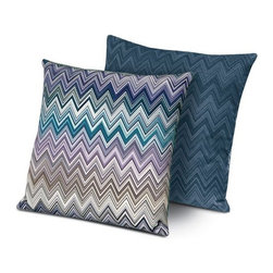 Missoni Home - Missoni Home | Jarris Blue Monroe Pillow 16x16 - Design by Rosita Missoni.