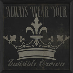 The Artwork Factory - 'Always Wear Your Invisible Crown' Print - Ready-to-Hang. 100% Made in the USA, museum quality framed artwork.