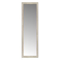"""Posters 2 Prints, LLC - 16"""" x 52"""" Libretto Antique Silver Custom Framed Mirror - 16"""" x 52"""" Custom Framed Mirror made by Posters 2 Prints. Standard glass with unrivaled selection of crafted mirror frames.  Protected with category II safety backing to keep glass fragments together should the mirror be accidentally broken.  Safe arrival guaranteed.  Made in the United States of America"""