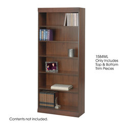 """Safco - Veneer Bookcase Trim Kit, 36W"""" - Walnut - To add a finished look of distinction, order a Traditional Trim Kit.; Features: Material: Solid Wood; Color: Walnut; Finished Product Weight: 5 lbs.; Assembly Required: Yes; Tools Required: No; Limited Lifetime Warranty; Dimensions: 36""""W x 3/4""""D x 3""""H"""