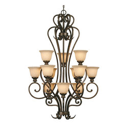 Heartwood 12-Light 3 Tier Chandelier