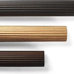 "Frontgate - Reeded Wood Curtain Rod - Combine with drapery rings to create ring-top arrangement. All components fit a 2-1/4"" drapery rod. Finials and Tiebacks are handcast in resin. Offered in three hand-applied finishes. Hang your draperies with architectural distinction using our Wooden Drapery Accessories. The understated allure of these accessories subtly enhances your entire window treatment.. . . ."