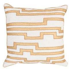"""Surya - Surya COV-003 Pillow, 20"""" x 20"""", Poly Fiber Filler - Mesmerizing its it's magical design, this perfect piece will effortlessly embody elegance in your space. Hand made in India in a brilliant blend of cotton velvet and linen, designer Candice Olsen creates the sophisticate's dream with this utterly exquisite pillow. This pillow contains a zipper closure and provides a reliable and affordable solution to updating your home's decor. Genuinely faultless in aspects of construction and style, this piece embodies impeccable artistry while maintaining principles of affordability and durable design, making it the ideal accent for your decor."""