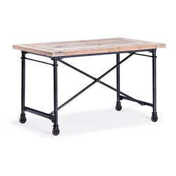 ZUO ERA - Presidio Heights Desk Natural Oak - Presidio Heights Desk Natural Oak