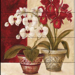 The Tile Mural Store (USA) - Tile Mural - Japanese Orchid - Y - Kitchen Backsplash Ideas - This beautiful artwork by Yuna has been digitally reproduced for tiles and depicts a Japanese Orchid.  With our enormous selection of tile murals of plants and flowers you can bring your kitchen backsplash tile project to life. A decorative tile mural with plants and flowers is an impressive kitchen backsplash idea and decorative flower tiles also work great in the bathroom. Add splashes of color and life to your tile project with images of flowers on tiles and tiles with pictures of plants.