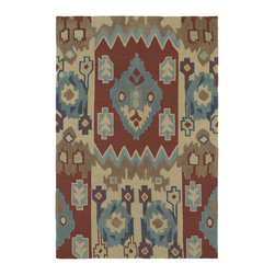 Kaleen - Crowne 1703 25 Chamberlin Red Rug by Kaleen - 2 ft x 3 ft - Crowne 1703 25 Chamberlin Red Area Rug by Kaleen. The Crowne Collection is a dazzling collection of magnificent tribal and naturally inspired rugs. True to Kaleen's commitment of exceptional styling and value at an affordable price, Crowne is the best of old world quality and the panache of today; affordable and durable luxury ideal for any setting in your home or office. Crowne is made of only the finest 100% Premium Polyester yarn. Hand Tufted in China.