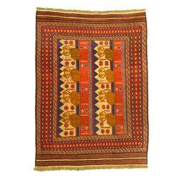 eSaleRugs - 6' 8 x 9' 4 Pictorial Sumak Rug - SKU: 22139483 - Hand Woven Pictorial Sumak rug. Made of 100% Wool. Brand New.