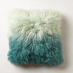 "Anthropologie - Ombre Luxe Fur Pillow - Side zipMongolian sheepskin, wool; polyfillSpot clean16"" squareImported"