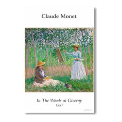 "PosterEnvy - In the Woods at Giverny 1887 - Claude Monet - Art Print POSTER - 12"" x 18"" In the Woods at Giverny 1887 - Claude Monet - Art Print POSTER on heavy duty, durable 80lb Satin paper"