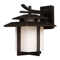 ELK Lighting - One Light Hazlenut Bronze Wall Lantern - One Light Hazlenut Bronze Wall Lantern
