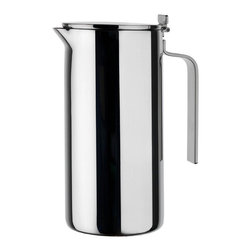 Alessi - Alessi Adagio Double-Wall Thermo Insulated Jug - Keep your beverages at the ideal temperature longer with this double-walled, stainless steel insulated jug. The bonus: It's sleek, classic look adds style to your table.