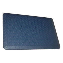 Rhino Anti-Fatigue Mats - Comfort Mats: Rhino Anti-Fatigue Mats Safety Supplies Housewares Navaho Plait - Shop for Flooring at The Home Depot. Our Comfort Craft Housewares Premium line was designed to bring commercial grade comfort to the home. These mats come in 80 different styles and colors to match any existing color schemes in your home. Our Housewares line has set a new standard for high end kitchen matting. The days of crinkled wrinkled and rolled up mats that constantly require straightening and cause trip hazards are over. This mat will stay where you put it exactly like you want. No sliding or wrinkling. Color: Navaho Plait Cavalier Blue.
