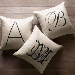 Personalized Alphabet Pillow Cover - Anything personalized is thoughtful and special.