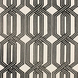 nuLOOM - Contemporary 5' x 8' Black Hand Hooked Area Rug Trellis BC67 - Made from the finest materials in the world and with the uttermost care, our rugs are a great addition to your home.