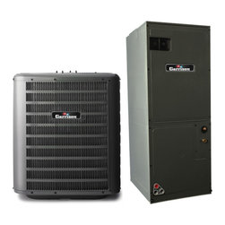 Garrison - Garrison GX Series 13 SEER R-410A 1.5 Ton Complete Split System Heat Pump - Package Includes: Garrison GSZ Heat Pump and ARUF Air Handler. Garrison GX Series 13 SEER R-410A 1.5 Ton Complete Split System Heat Pump Heat Pump: GSZ130181-136613 Air Handler: ARUF18B14-273255   Item #: 136613 Model: GSZ130181 Garrison GX Series 1.5 Ton 13 SEER R-410a Heat Pump The GSZ13 Heat Pump uses the chlorine-free refrigerant R-410A and features operating sound levels that are among the best we offer in the heating and cooling industry. With its 13 SEER rating, the GSZ13 will help reduce energy consumption throughout the life of the system compared to units with a lower SEER. Features Energy-efficient compressor Contactor with lug connection R-410A chlorine-free refrigerant Compressor short-cycle protection Copper tube/enhanced ...
