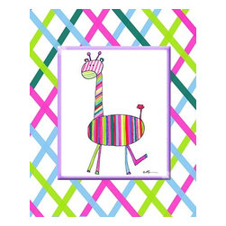 Oh How Cute Kids by Serena Bowman - Groovy Giraffe, Ready To Hang Canvas Kid's Wall Decor, 11 X 14 - Each kid is unique in his/her own way, so why shouldn't their wall decor be as well! With our extensive selection of canvas wall art for kids, from princesses to spaceships, from cowboys to traveling girls, we'll help you find that perfect piece for your special one.  Or you can fill the entire room with our imaginative art; every canvas is part of a coordinated series, an easy way to provide a complete and unified look for any room.
