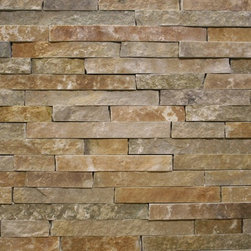 Dimensional Ledgestone - Copper Ledge is a contemporary natural limestone veneer with crisp clean lines designed for a tight fit (drystack) application.