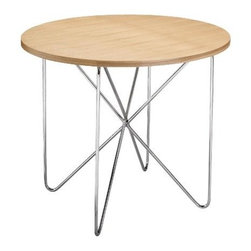 Zuo Modern - Plywood Table w Chrome Plated Steel Tube Frame - Set of 2 (Wenge) - Color: Wenge. Our popular Plywood Table with Chrome Plated Steel Tube Frame features a 36 inch diameter round top. The chrome plated solid steel tube frame displays an appealing contemporary design. Set of 2. Plywood Top. Chrome Plated Solid Steel Tube. 36 in L x36 in W x 30 in H (Wt: 55 lbs.)