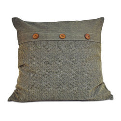 None - Gipson 20-inch Down Throw Pillow - This down throw pillow will be the perfect accessory to add that finishing touch to your decor. The zipper removable cover is 100-percent for softness and durability.