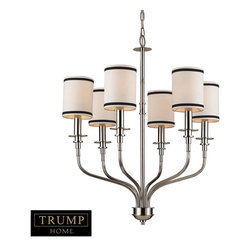 Elk Lighting - 6 Light Up Lighting Covered Chandelier - K. was founded in Eastern Pennsylvania in 1983 by three industry experts, Adolf Ebenstein, Jonathan Lesko, and Russell King. Since the company's inception, a commitment has been made to deliver innovative, quality product with designer appeal and conscientious value.