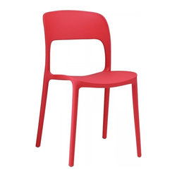 Modway Imports - Modway EEI-1461-RED Hop Dining Chair In Red - Modway EEI-1461-RED Hop Dining Chair In Red