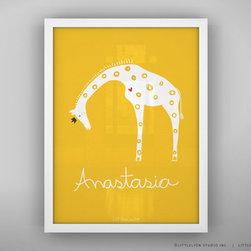 Custom Baby Print Queen Giraffe Unframed By Little Lion Studio - Animal + Name = Lovely.