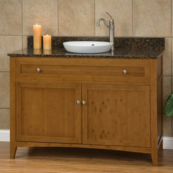 "48"" Halifax Bamboo Vanity for Semi-Recessed Sink - Environmentally friendly and stunning, the 48"" Halifax Bamboo Vanity for Semi-Recessed Sink has it all. The stone countertop, Brushed Nickel hardware highlights this solid bamboo vanity."
