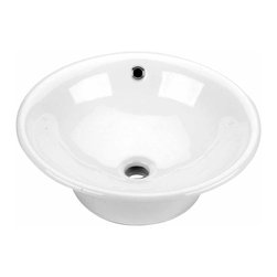Renovators Supply - Vessel Sinks White Evans Vessel Sink 16 1/2'' Dia | 13852 - Vessel Sinks Above Counter: Made of Grade A vitreous China these sinks endure daily wear and tear. Our protective RENO-GLOSS finish resists common household stains and makes it an EASY CLEAN wipe-off surface. Ergonomic and elegant easy reach design reduces daily strain placed on your body. SPACE-SAVING design maximizes limited bathroom space. Easy, above counter installation let's you select from many faucet styles and countertop designs, sold separately. Measures 16 1/2 inch diameter