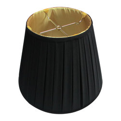 Home Concept - Empire BoxPleated Lampshade - Black Fabric - Home Concept Signature Shades feature the finest premium shantung fabric.