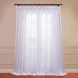 Half Price Drapes - Doublewide Solid White 100 x 96-Inch Sheer Curtain - - HPD has redefined the construction of sheer curtains and panels. Our Embroidered Sheer Collection are unmatched in their quality. Each panel creates a beautiful diffusion of light  - Single Panel  - Non-Weighted  - Pole Pocket  - Cleaning/Care: Dry Clean Half Price Drapes - SHCH-VOL1-96-SLDW