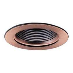 "Nora Lighting - Nora NL-410 4"" Adjustable Stepped Baffle with Ring, Nl-410co - 4"" Adjustable Stepped Baffle with Ring"