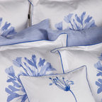 Zicci Bea Bedding - Bella Full Bedset, King - Introducing our luxury collection,Bella. This astonishing array of extraordinary hand craftsmanship will never cease to amaze you. From intricate clusters of beautifully detailed blue flowers to bold and beautiful piping detail as well as scalloped edging, all  done on luxurious 300 thread count cotton sateen.