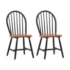 Boraam - Farmhouse Collection Hardwood Dining Chairs i - Classic Windsor spindle design. Shaped seat for comfort. RTA Structure. Made from Solid hardwood. 17 in. W x 17 in. D x 36 in. H