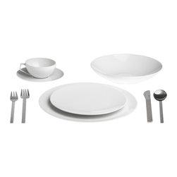 Rosenthal Tac 02 Dinnerware - Rosenthal Tac 02 white dinnerware, photo by Fitzsu Society