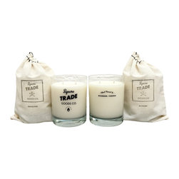 Square Trade Goods Co. - Holiday Whiskey Glass Candle, Winter Pine - * Listing is for one candle.
