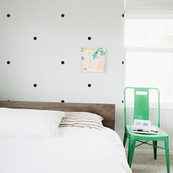 The Lovely Wall Co - Tiny Dots Wall Decal, Brick - Please note that metallic vinyl is not reusable.