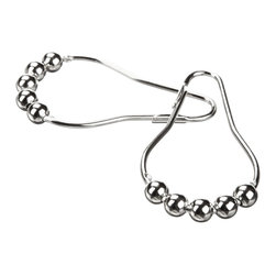 Heavy Duty Roller Shower Curtain Rings, Clipperton RollerRings®, Set of 12 - shower curtain ring on the market compares to the quality and standards of the Clipperton Brand's original RollerRings design.