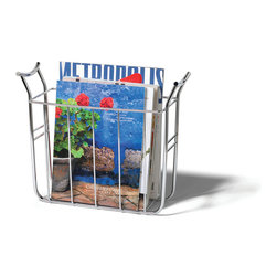 Office Organization - Keep your home and office organized with the Euro Magazine Basket. This slim rack neatly stores all of your standard size magazines and periodicals. Made of sturdy steel, its clean design will add a modern touch to your home.