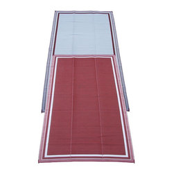 Fireside Patio Mats - Contemporary Indoor/Outdoor Fireside Patio Mats Rugs Cranberry Sunrise 9 ft. x - Shop for Flooring at The Home Depot. Fireside Cranberry Sunrise 108 in. x 216 in. Reversible Patio Mat comes in a deep Cranberry color with White accent stripes. This mat is large enough to comfortably sit 8 to 10 adults. Fireside reversible RV / Patio Mats will add a touch of elegance to your deck or patio. These high quality Polypropylene (plastic) mats are reversible with a complimentary pattern on the opposite side. You get two patterns for one low price. Fireside Patio Mats are lightweight and compact when folded so they are easy to travel with and easy to store. All of our Fireside indoor/outdoor reversible patio mats are stain and fade resistant and clean up is a breeze. Simply rinse your mat with a garden hose and allow to air dry. Fireside reversible patio mats have corner tie-down loops to stake the mat to the ground in windy conditions (tent stakes sold separately). Use our lightweight reversible patio mats to spruce up a tired old deck or patio while camping or RVing on the beach by the pool for picnics at car races while tailgating in the backyard or in the playroom or recreation room. Whether you call them RV mats RV awning mats or simply patio mats Fireside Patio Mats offers high quality reversible mats that are simply gorgeous and functional. Color: Red.