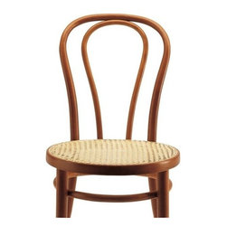 Thonet Vienna Cafe Chair - Chair No. 18, one of the most recognizable chairs from Michael Thonet's sons, was produced after the death of Michael Thonet. Designed in 1876, it became, for many, the Vienna Cafe Chair.