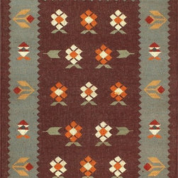Rugsville Floral Art Grey Brown 13717 Wool & Jute Rug - Rugsville floral art kilims collection is handcrafted from wool and jute rug inspired pattern is floral and sophisticated addition to any room. This hand woven flat weave rug was meticulously crafted with 100% wool and jute in India.