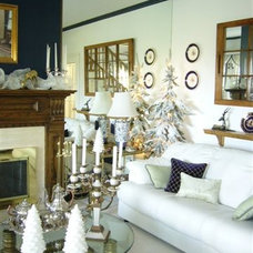 Traditional Living Room French Flair Design