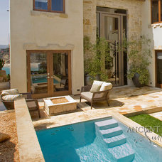 Mediterranean Fire Pits by Ancient Surfaces